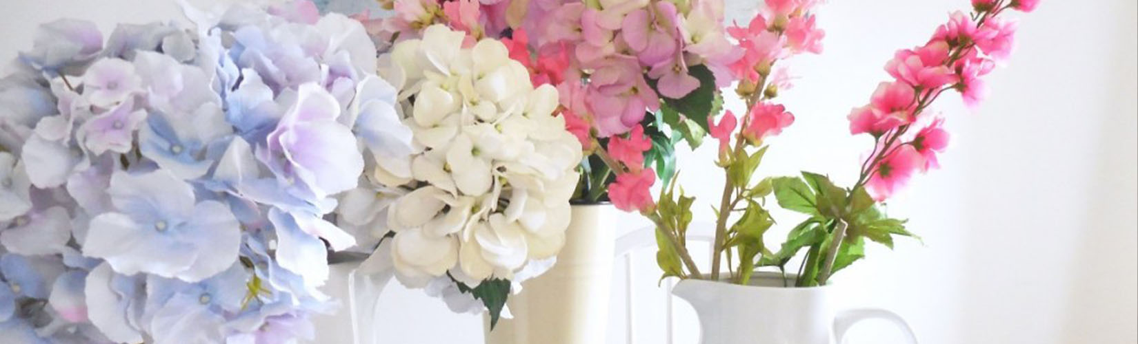 Artificial Hydrangea Flowers Styled By The Ordinary Lovely