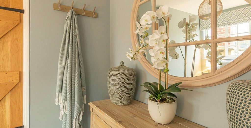 Artificial White Orchid Plant by Pavilion Broadway Interior Design
