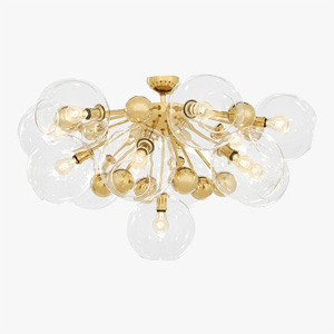 Eichholtz Ceiling Light Soleil Gold