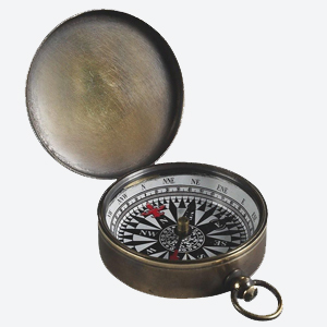 Authentic Models Compass Small in Bronze
