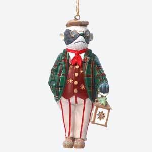 Gisela Graham Mr Badger Christmas Tree Decoration