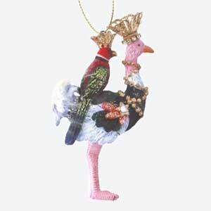 Gisela Graham Christmas Tree Decoration Ostrich & Parrot
