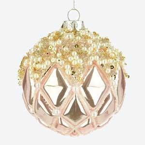 Glass Christmas Bauble Kristen Gold