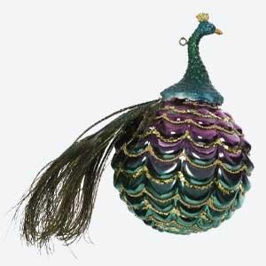 Kaemingk Christmas Bauble Peacock