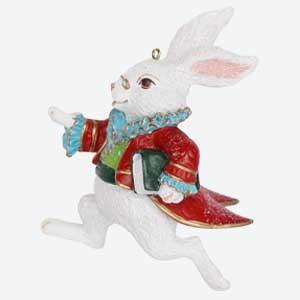 Gisela Graham White Rabbit Christmas Tree Decoration