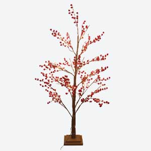 Gisela Graham Small Red Christmas Twig Tree with Lights