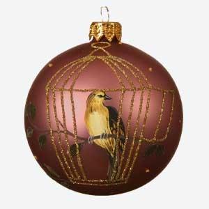 Kaemingk Christmas Bauble Caged Bird