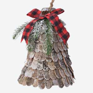 Kaemingk Christmas Tree Decoration Birch Bell