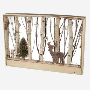 Parlane Christmas Ornament Winter Scene Deer with LED