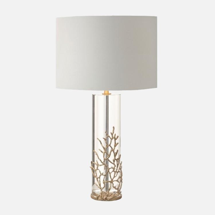 Rv Astley Table Lamp Harter Crystal Glass