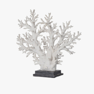 Pavilion Chic White Coral Tree on Stand
