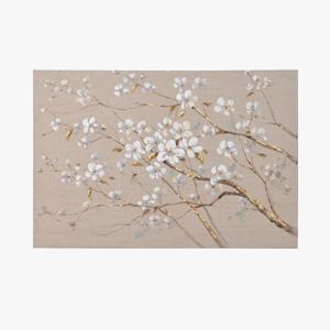 Pavilion Chic Oil Painting Cherry Blossom on Canvas