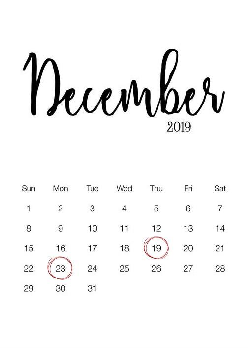 December Christmas Delivery Deadline