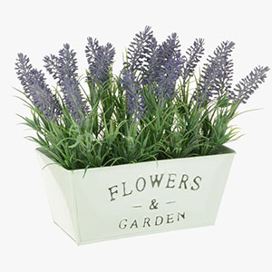 Artificial Lavender Flowers in Pot
