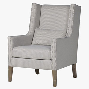 Pavilion Chic Striped Club Chair