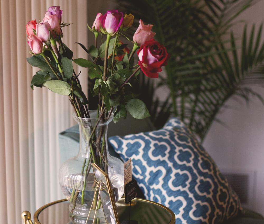 Autumn Winter Flowers - Roses in Vase