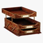 Jonathan Charles Victorian Triple Letter Tray