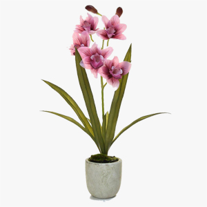 Artificial Orchid Pink in Pot