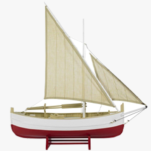 Authentic Models Biscay Fishing Boat Red