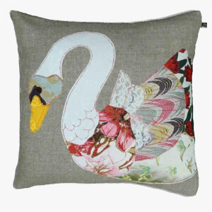 Carola Van Dyke Cushion White Swan