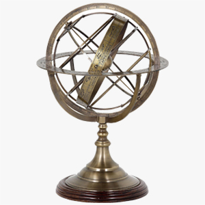 Eichholtz Globe in Brass