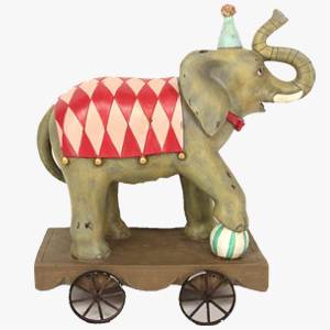 Gisela Graham Elephant on Wheels