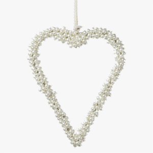 Parlane Heart Pearl Beads White