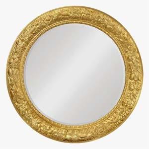 Jonathan Charles Large Round Wall Mirror Louis XV