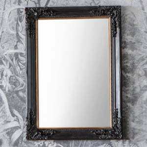 Pavilion Chic Countess Large Black Ornate Mirror