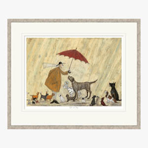 Cats and Dogs Framed Print by Sam Toft