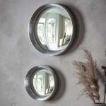 Pavilion Chic Hailey Silver Framed Convex Mirror