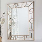 Pavilion Chic Plum Geometric Wall Mirror