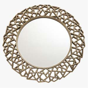 RV Astley Round Wall Mirror Quin Gold Leaf