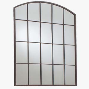 Pavilion Chic Urban Black Metal Window Mirror
