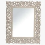 Libra Mirror Medici Grey Carved Rectangular