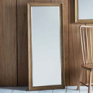 Pavilion Chic Clapton Oak Effect Full Length Mirror