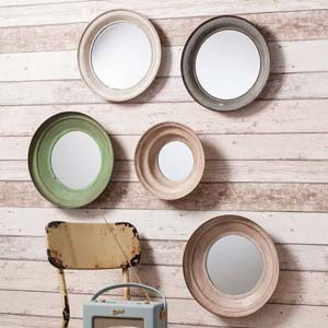 Pavilion Chic Ryeclose Set of 5 Round Mirrors
