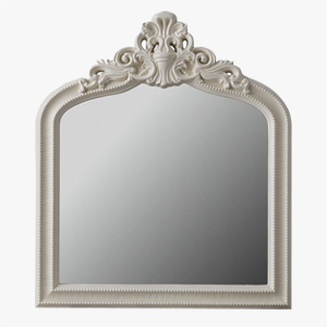 Pavilion Chic Mirror Brighton Crested Overmantel in Cream