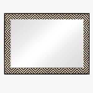 Jonathan Charles Wall Mirror Ebony & Ivory