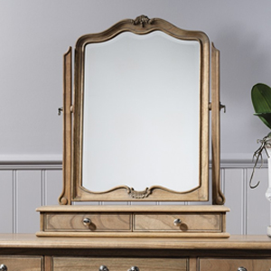 Pavilion Chic Dressing Table Mirror Sovereign in Weathered Wood