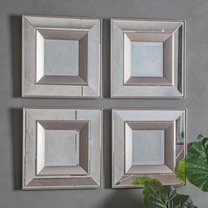 Pavilion Chic Wall Mirror Tintern Set of 4