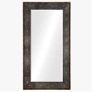 Jonathan Charles Floor Mirror in Anthracite Shagreen