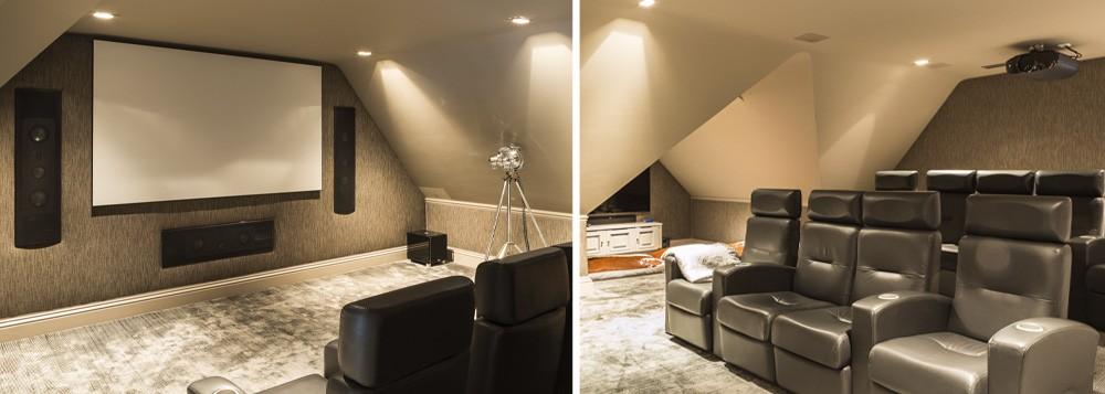 Home Cinema Room by Pavilion Broadway Interior Design