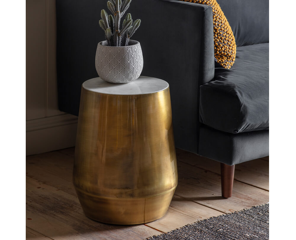 Statement Gold Side Tables