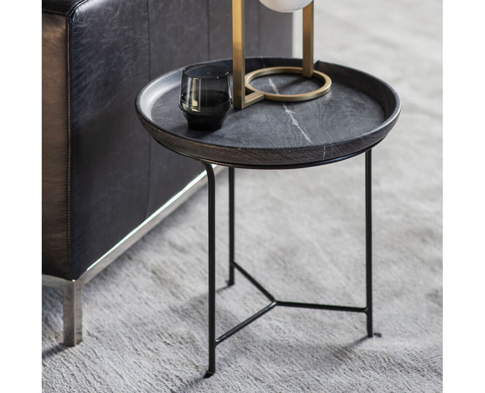 Statement Marble Top Side Tables