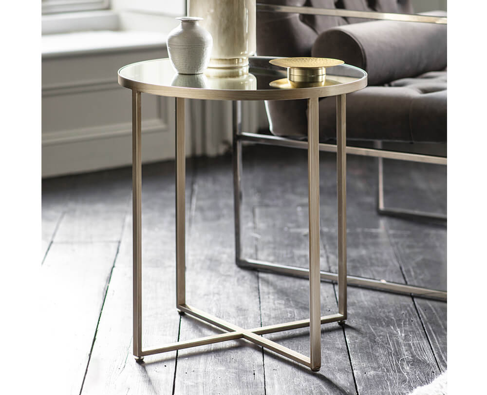 Statement Mirrored Side Tables