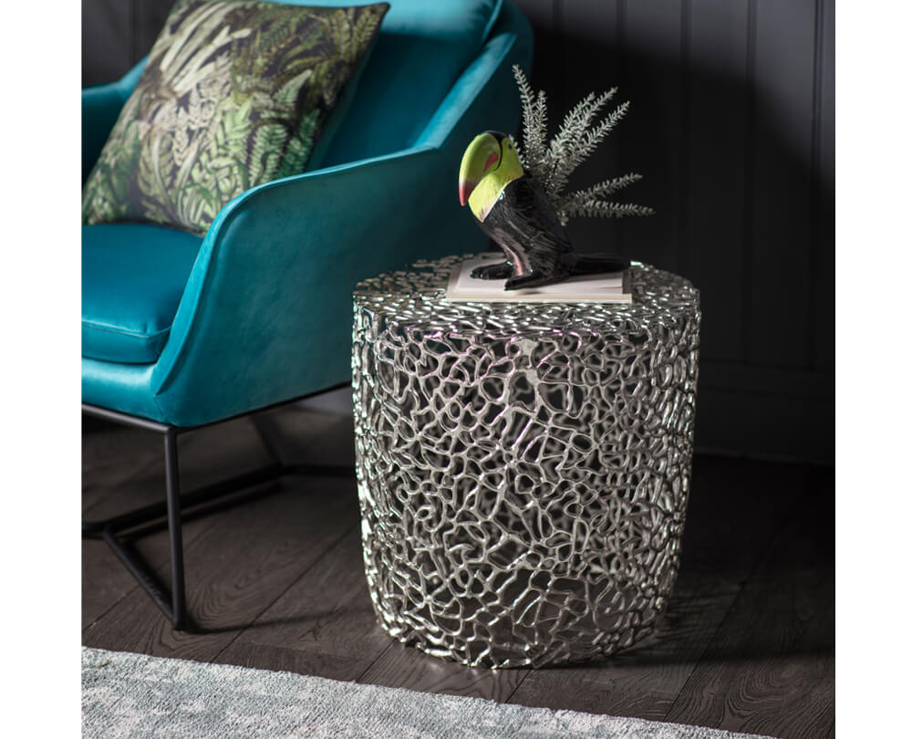 Statement Silver Side Tables