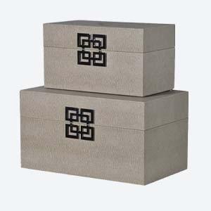 Decorative Art Deco Boxes Set of 2