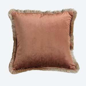 Paula Velvet Cushion with Fringe