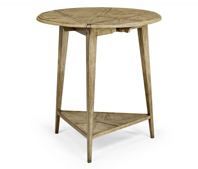 Jonathan Charles Light Driftwood Fold Out Side Table